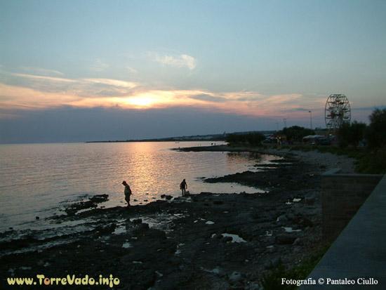 Anche al tramonto il litorale del Salento è bellissimo